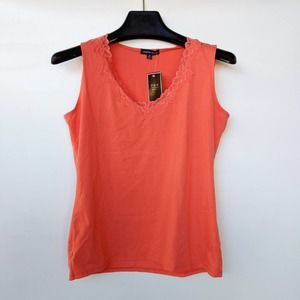 Jonathan Martin Women's Top Shell Tank Lace V Neck